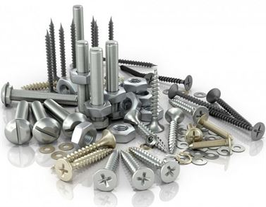 Fasteners bolts screws nails washers and rivets