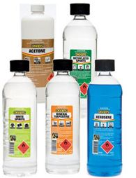 Solvents acids thinners and chemicals