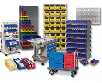 Shelves racking containers and materials handling