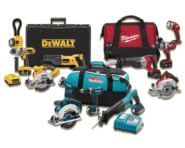 Cordless power tool kits